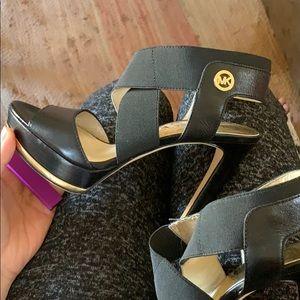 michael kors open toed heels